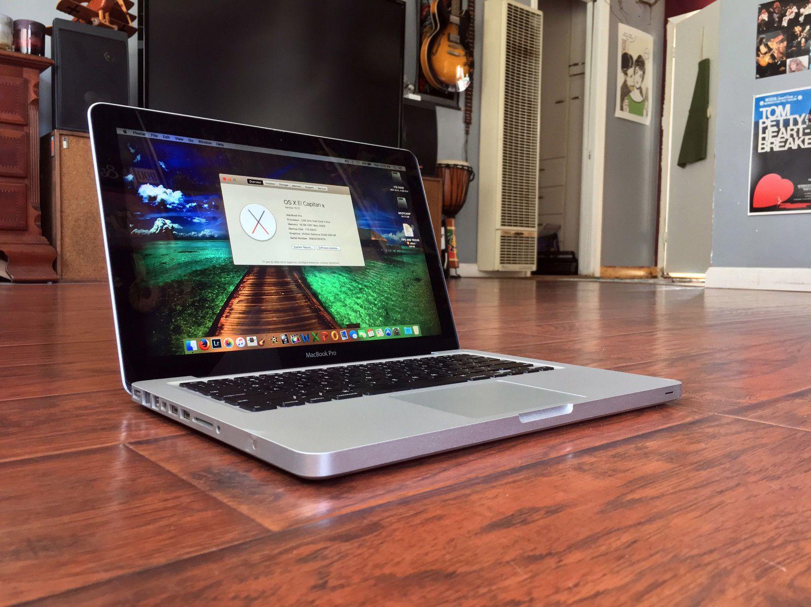 "CLEAN Apple MacBook Pro 13"" Laptop 2.66GHz/16GB/1TB SSHD El Capitan"