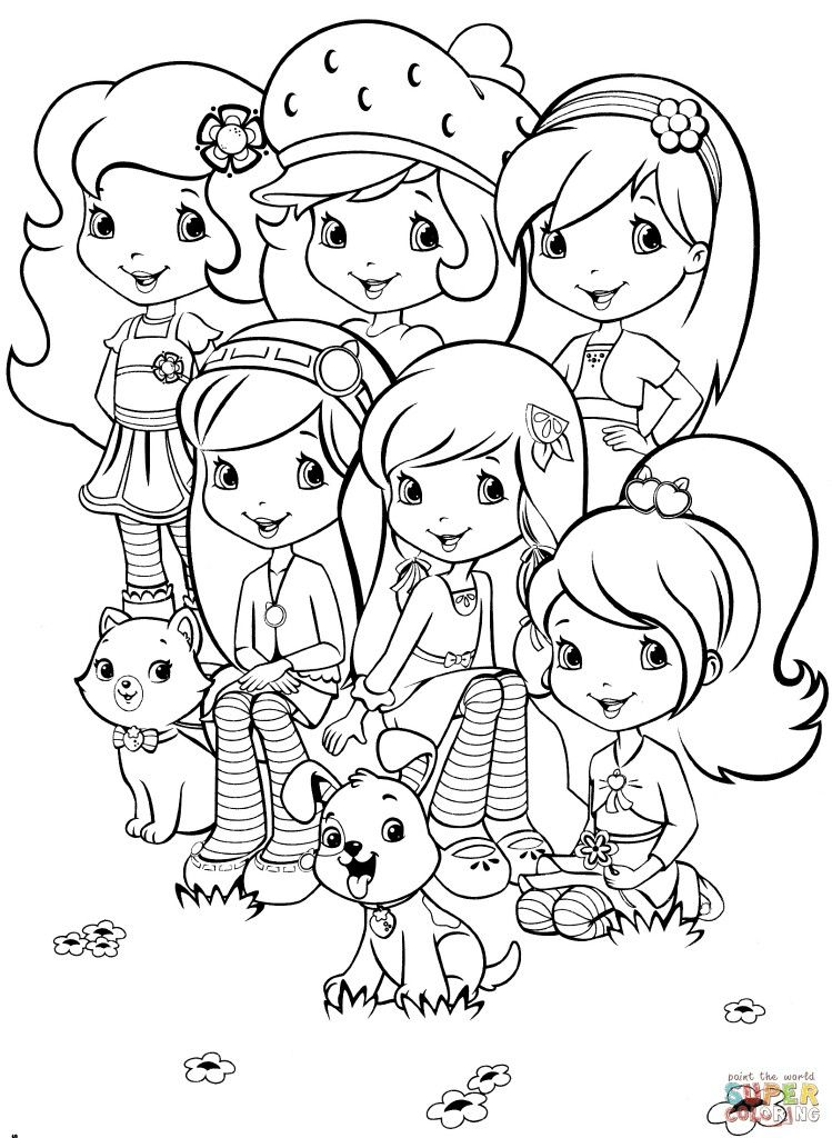 - Strawberry Shortcake Strawberry Shortcake Coloring Pages, Cartoon Coloring  Pages, Princess Coloring Pages