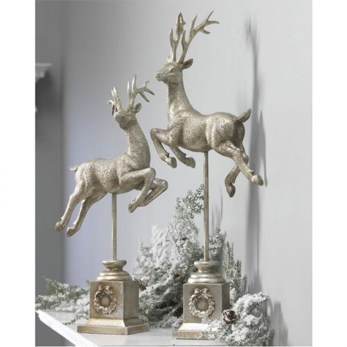 Christmas decor love flying reindeer for mantel