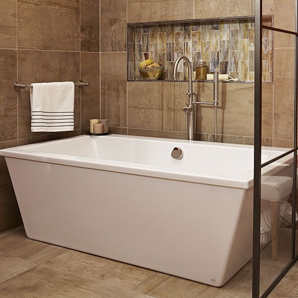 Seagram Freestanding Soaking Tub with Deck Room Scene by Marilyn ...