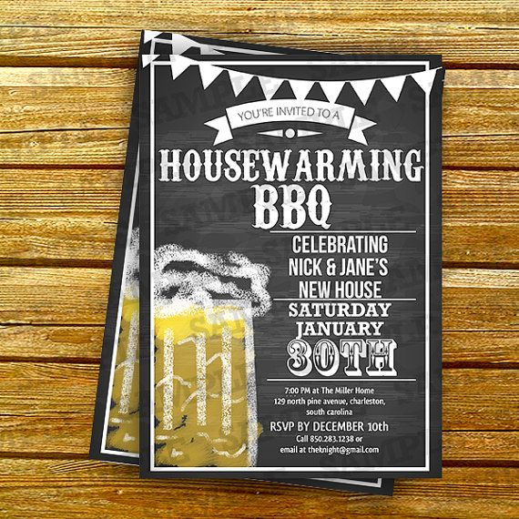 Housewarming Party Invitations Template Chalkboard Invite