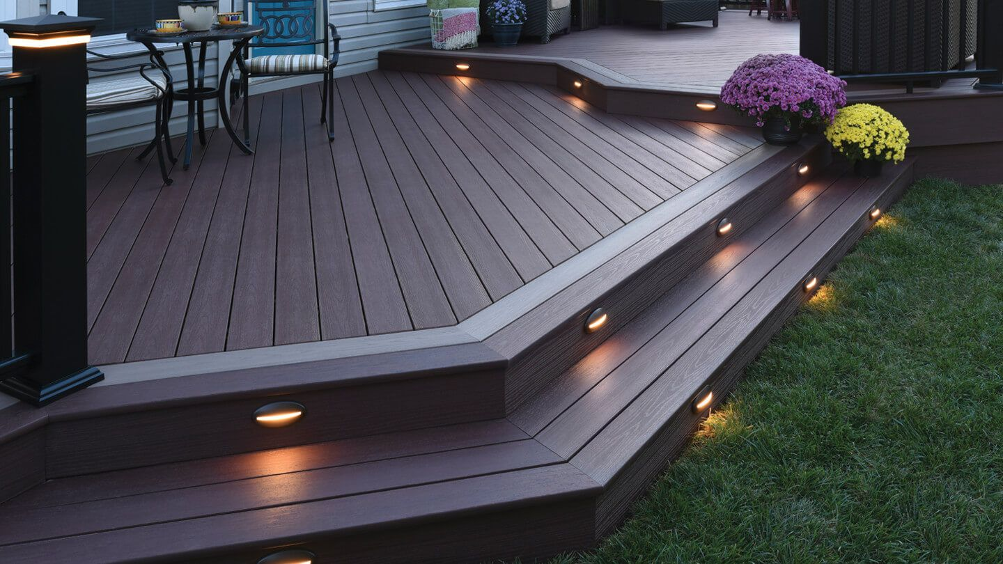 Azek Decking These Elegant On Trend Azek Products Are Made From Capped Polymer High Performance Mater Patio Deck Designs Deck Designs Backyard Patio Design