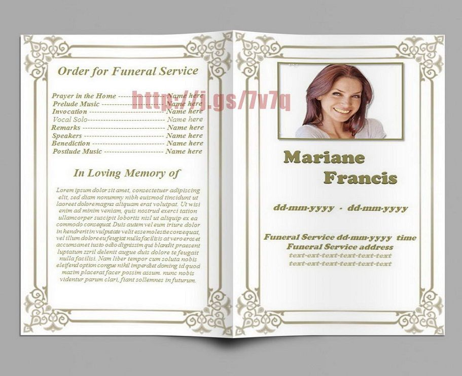 New Free Funeral Program Template  Nqobile    Program