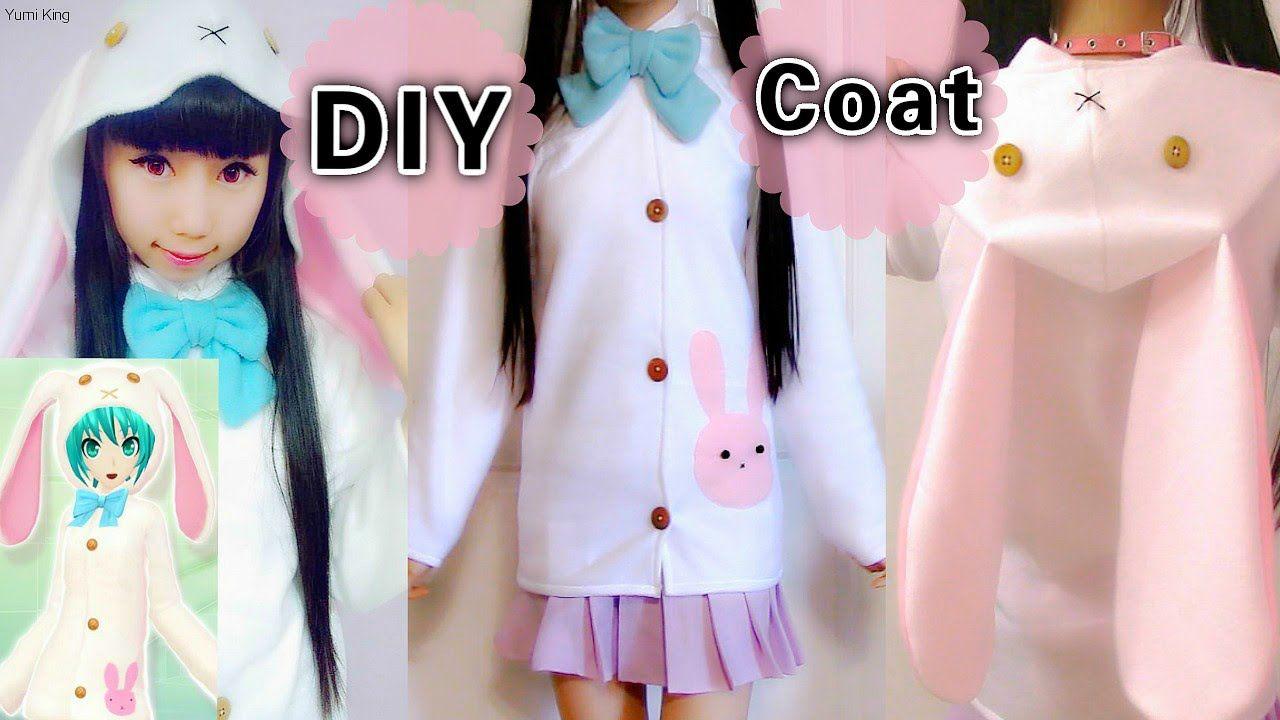 cd62ece8a3 DIY Easy Coat Jacket from Scratch Cosplay Bunny Costume Hatsune Miku Rab.