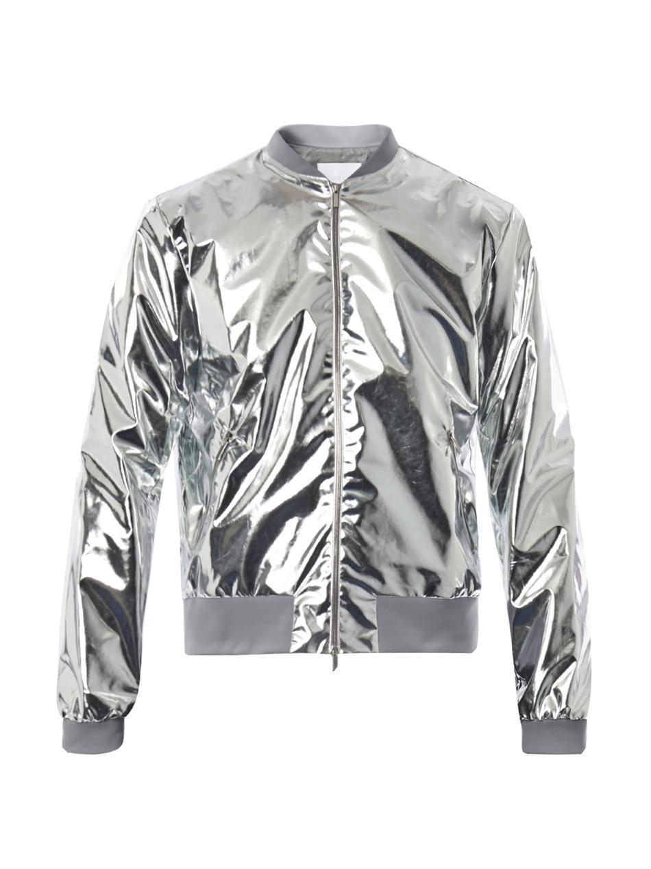 3b2dc0ec3 Richard nicoll Metallic Lightweight Bomber Jacket in Silver for Men
