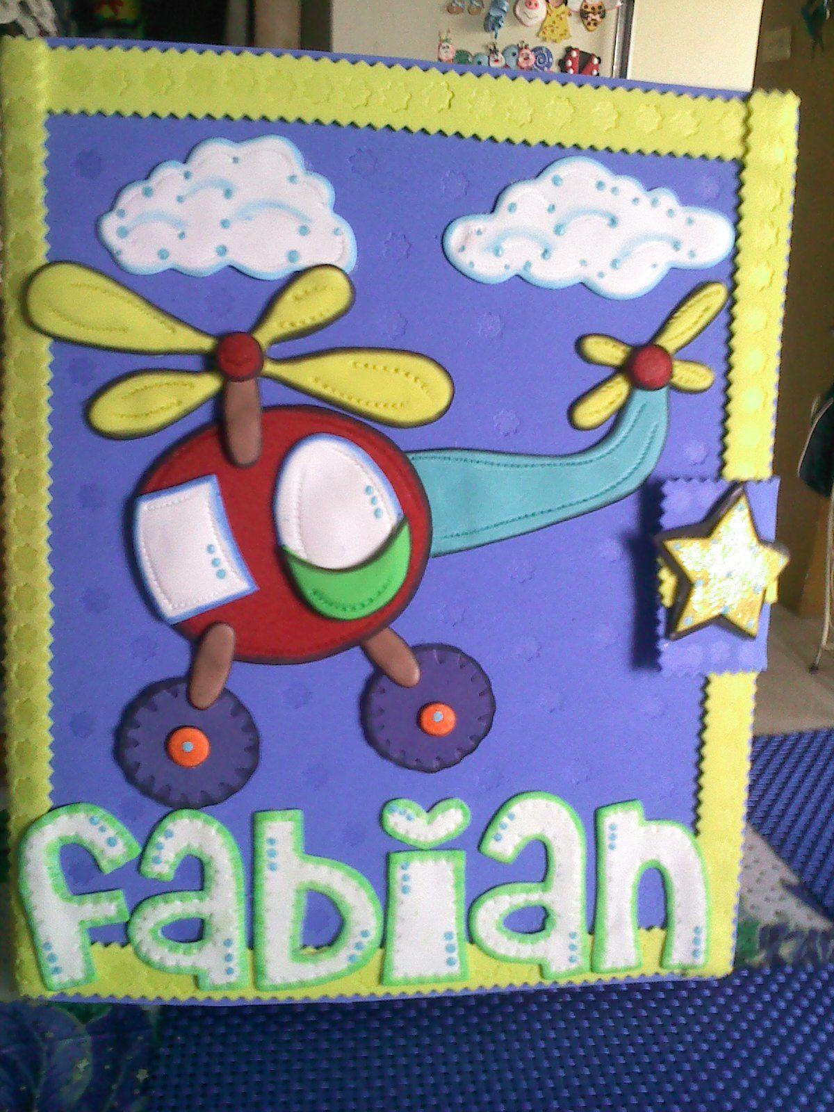 Carpeta de ni o motivo elicoptero beb yuny nu ez y sus for Manualidades decoracion bebe