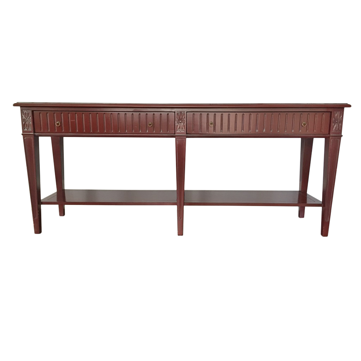 Grange double drawer console table front view mens offices grange double drawer console table front view geotapseo Choice Image