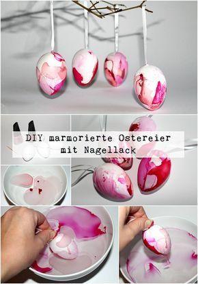 ostereier f rben mal anders diy marmorierte ostereier mit nagellack ganz einfach selber machen. Black Bedroom Furniture Sets. Home Design Ideas