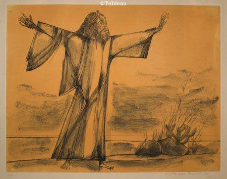 Aldemir Martins Antonio Conselheiro Gravura 10 50 51x65 Cm