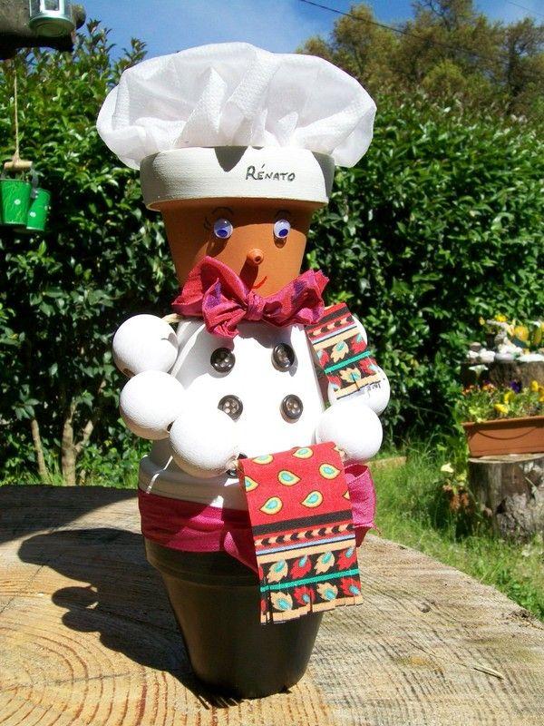 cuisinier mini pots de fleurs terra cotta clay pots. Black Bedroom Furniture Sets. Home Design Ideas