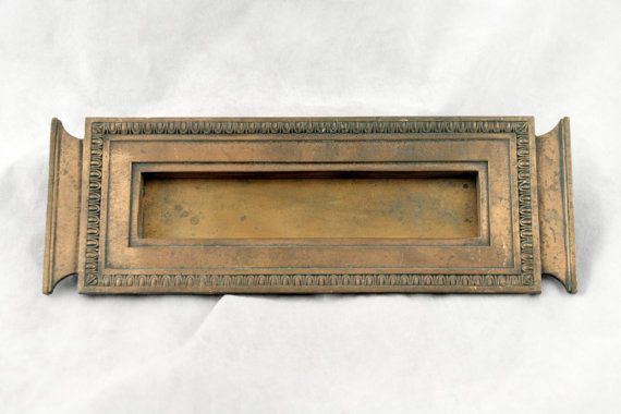 Solid bronze letter slot by oldegoodthings on Etsy