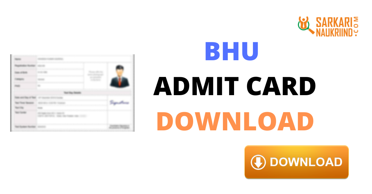 Bhu Uet Admit Card 2020 Banaras Hindu University Cards University Result