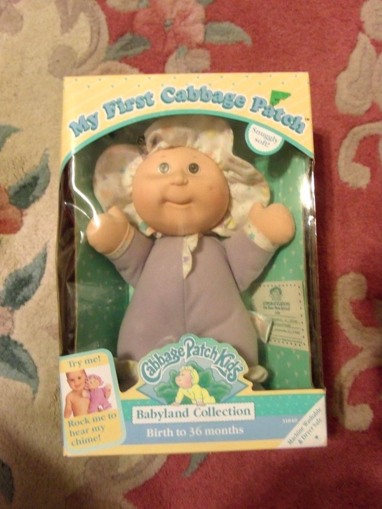 Rare 1992 My First Cabbage Patch Doll Babyland Collection Julie In Original Box Cabbage Patch Dolls Cabbage Patch Cabbage Patch Kids