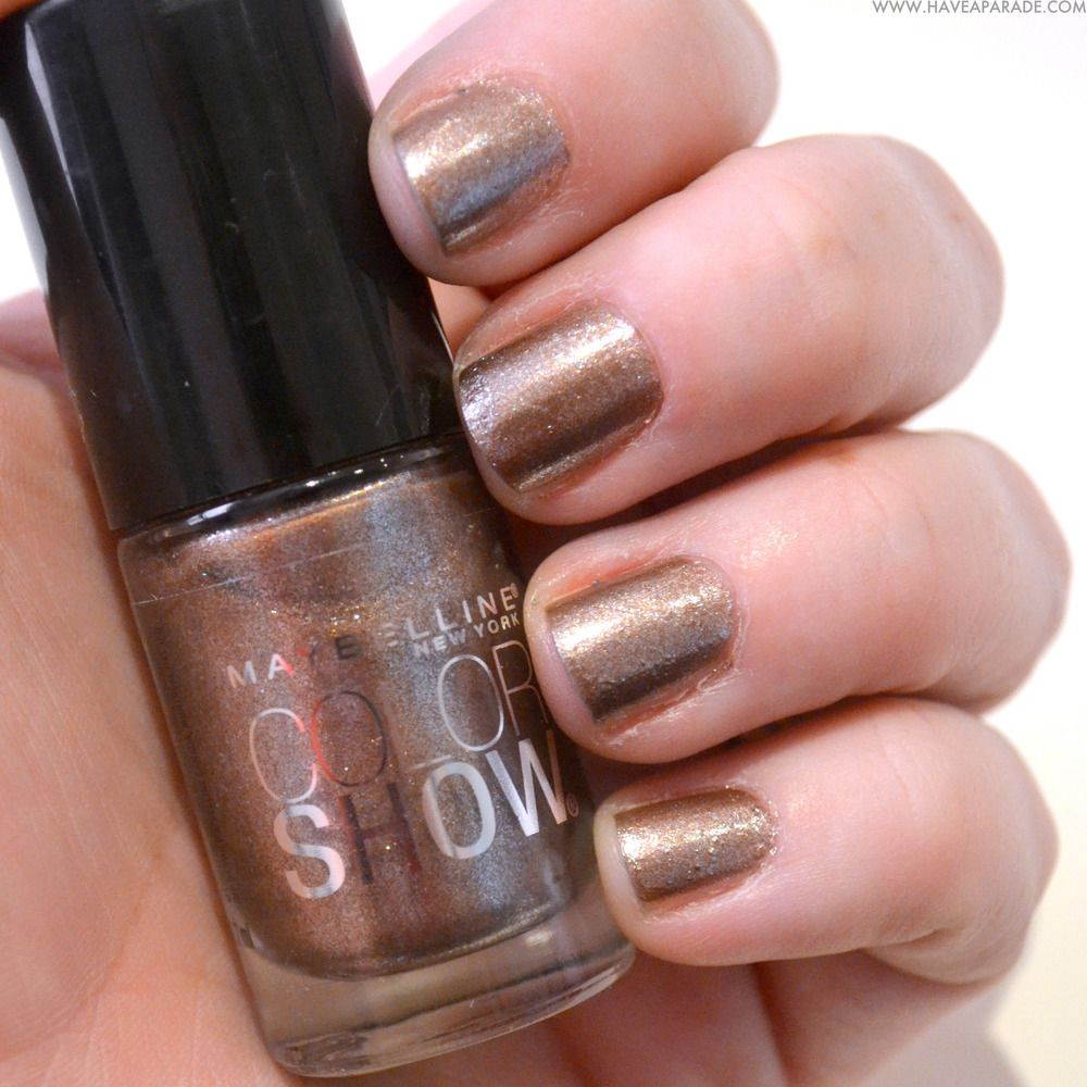 Maybelline Color Show Dust of Bronze | Polish | Pinterest