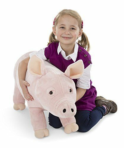 Melissa & Doug Giant Pig  Lifelike Stuffed Animal (Over 2 Feet Long)