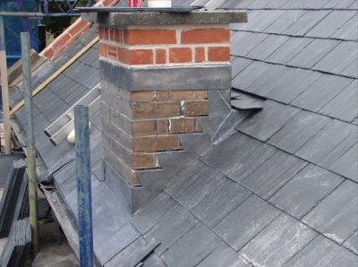 Correct Use Of Lead Flashing On A Roof Chimney Pinterest