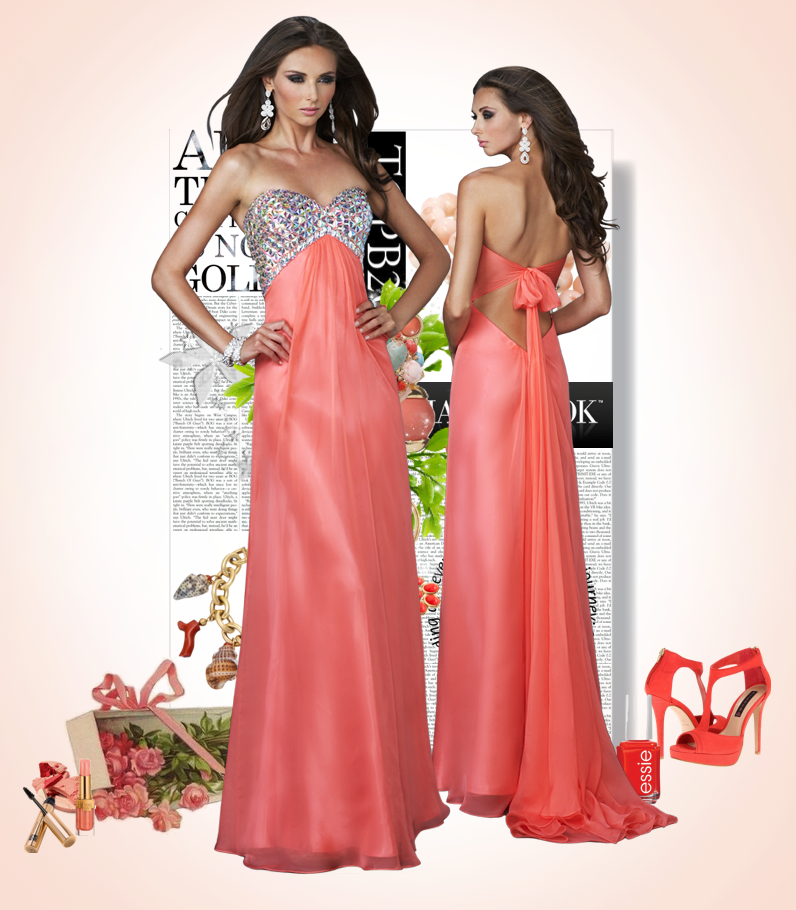Hot Coral Prom Dress – fashion dresses