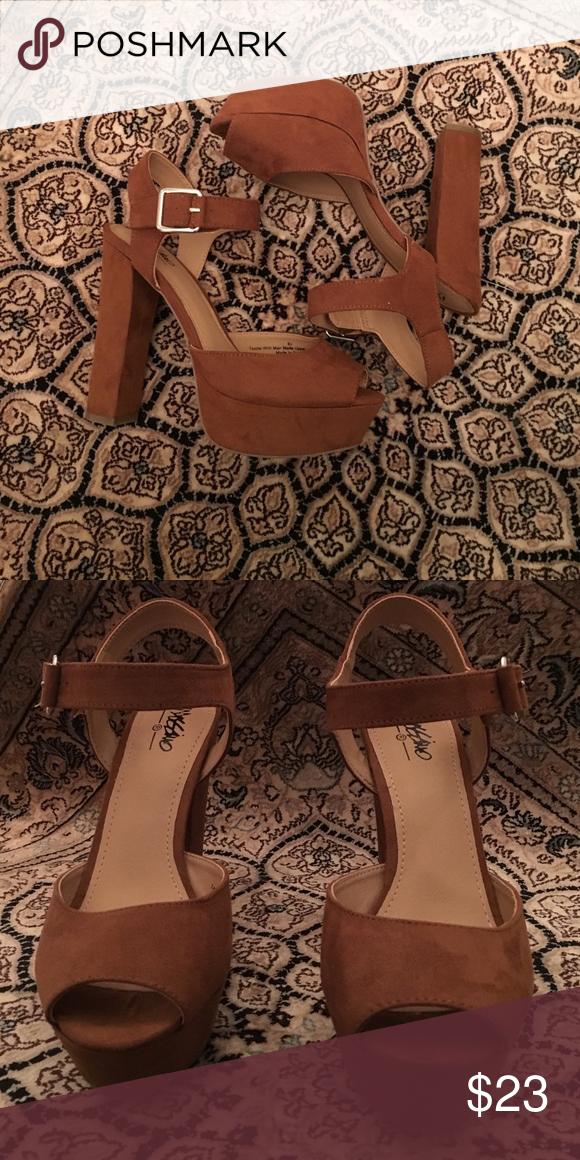 Chestnut Target heels NWOT chestnut 6 1/2 heels from Target. Mossimo Supply Co. Shoes Heels