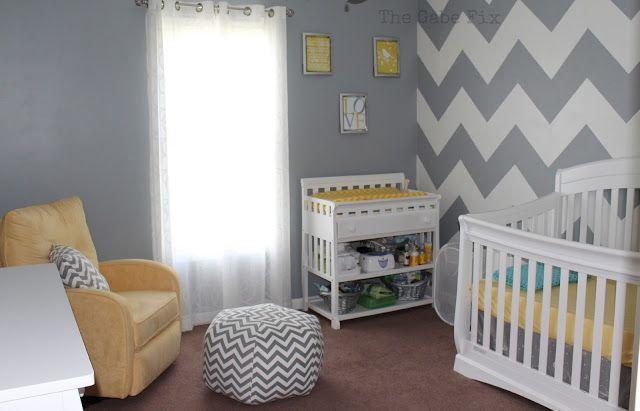 Baby Chad S Nursery Grey Baby Room Yellow Baby Room Baby Room Decor