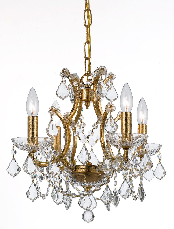 Four light mini chandelier bri spa pinterest mini chandelier