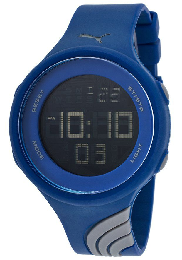 Puma Watches Twist Blue and Grey Rubber Black Digital Dial PU911091009,    #Puma,    #PU911091009,    #Casual