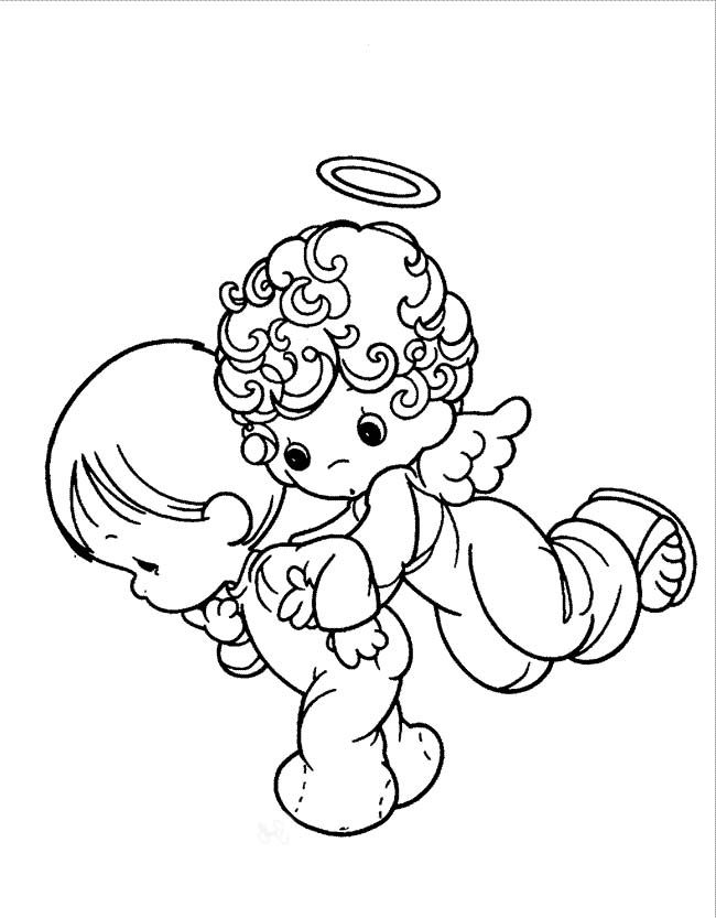 Precious Moments Angel And Baby Coloring Pages - Precious Moments ...