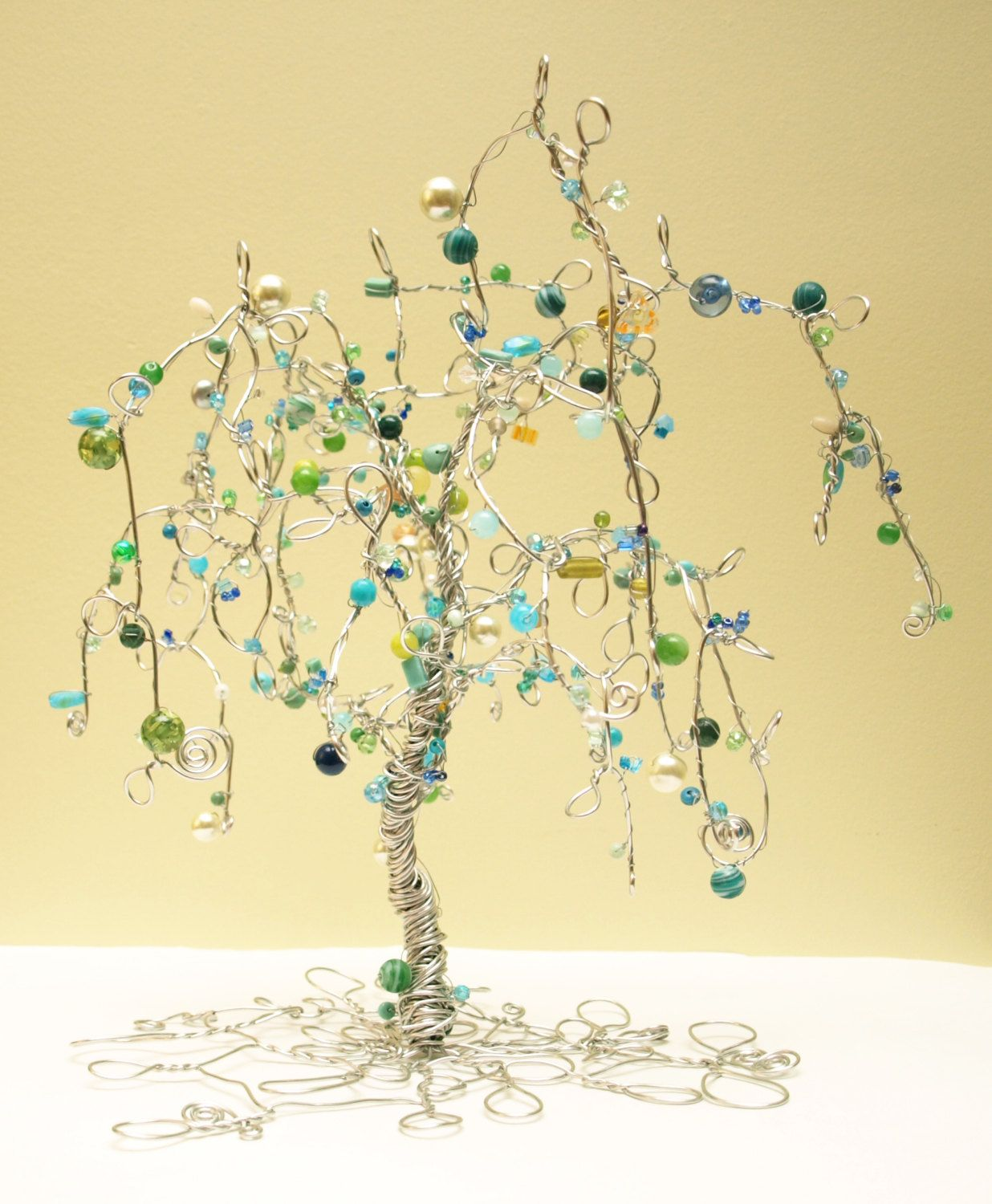 Beaded Wire Tree | Creativity... | Pinterest | Wire trees, Beads and ...