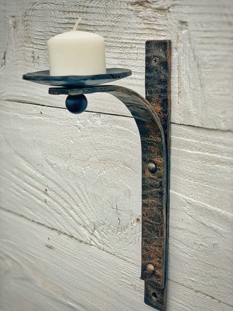 Black Wrought Iron Wall Sconces