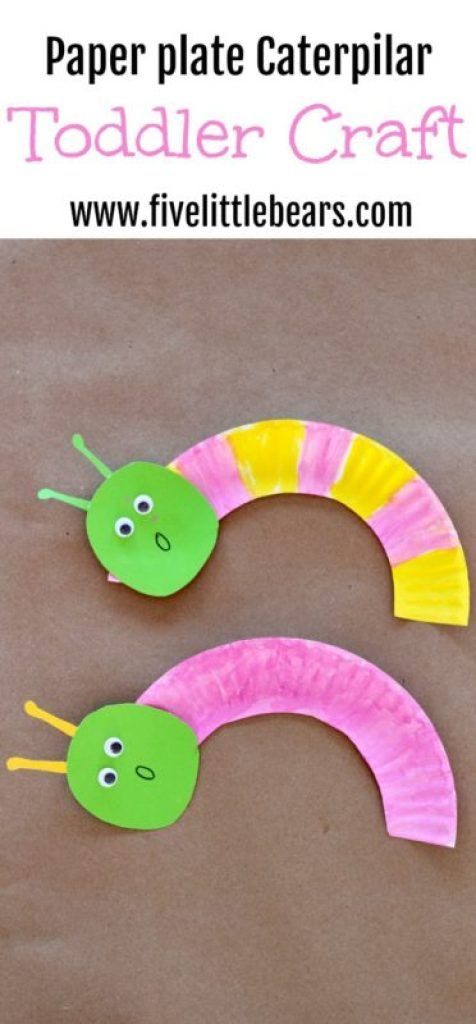 Spring Toddler Craft | Easy Paper Plate Caterpillars