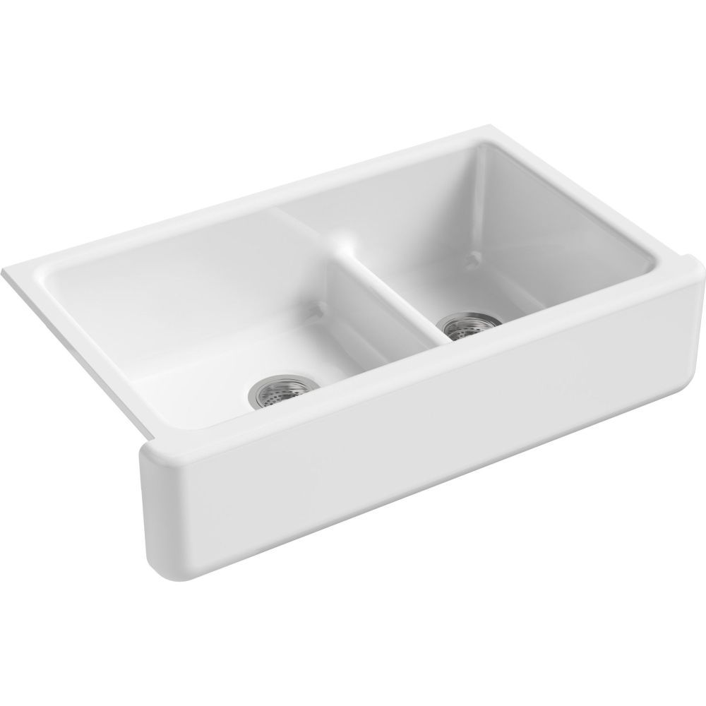 Kohler K 6427 0 Whitehaven 36 Double Bowl Under Mount Large