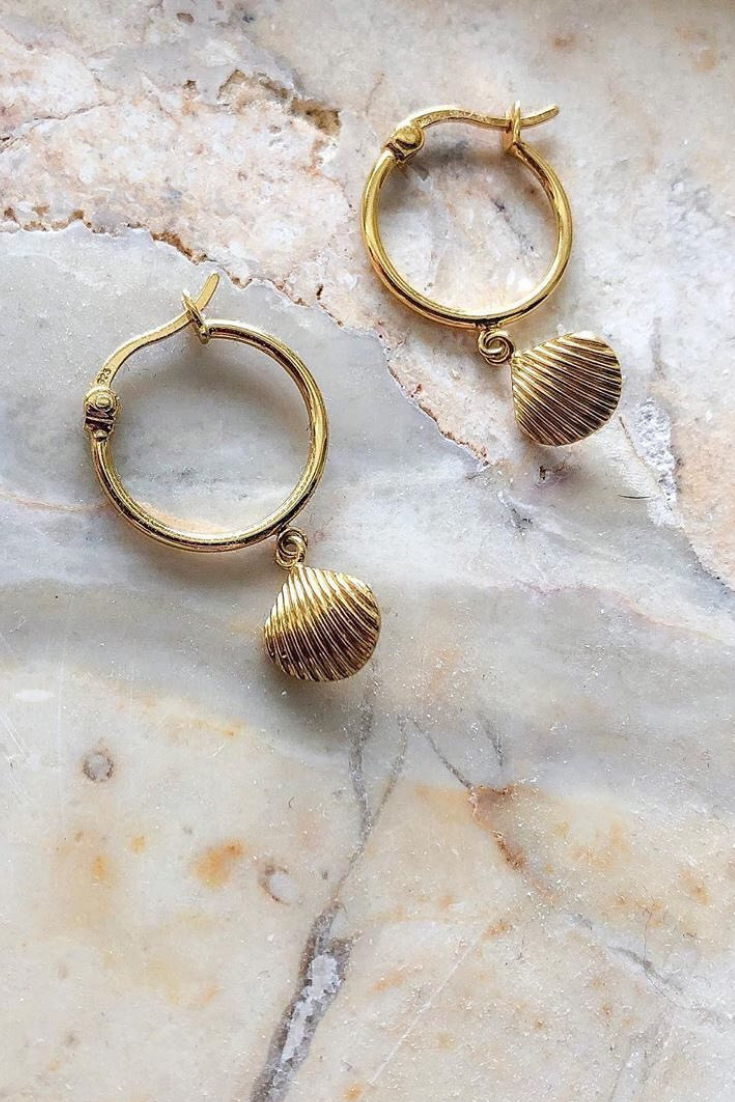 Just Gold Etched Tube Drop Earrings in 10K Gold