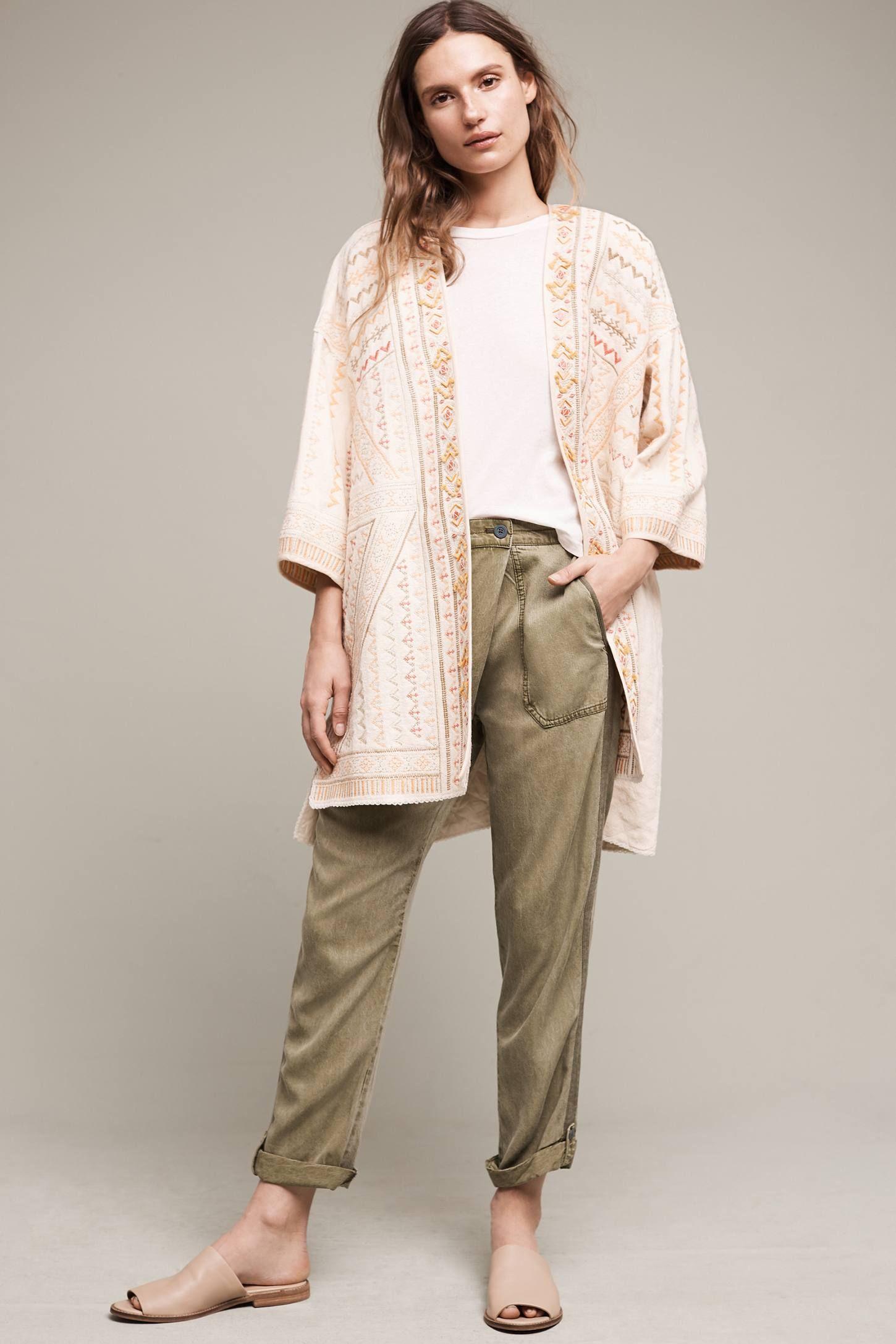 Paloma Embroidered Kimono Jacket | Kimono jacket, Kimonos and ...