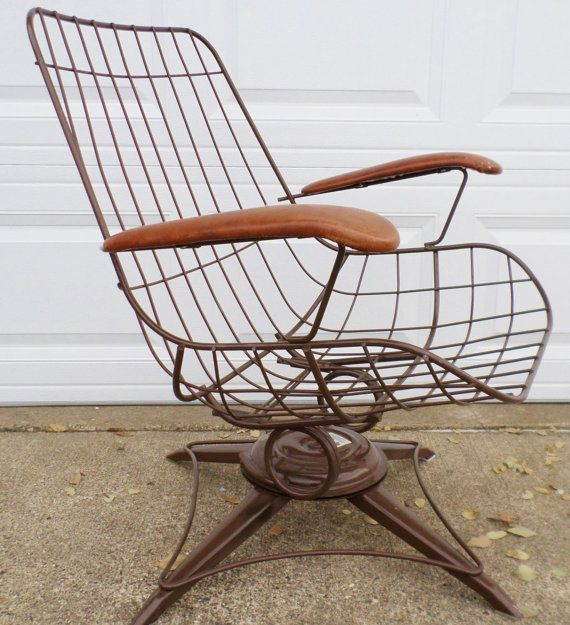 Superieur Vintage, Mid Century Modern, Eames Era, Wire Chair, Brown, Homecrest, Patio  Chair, Swivel Chair, Lounge Chair, Side Chair, Steel