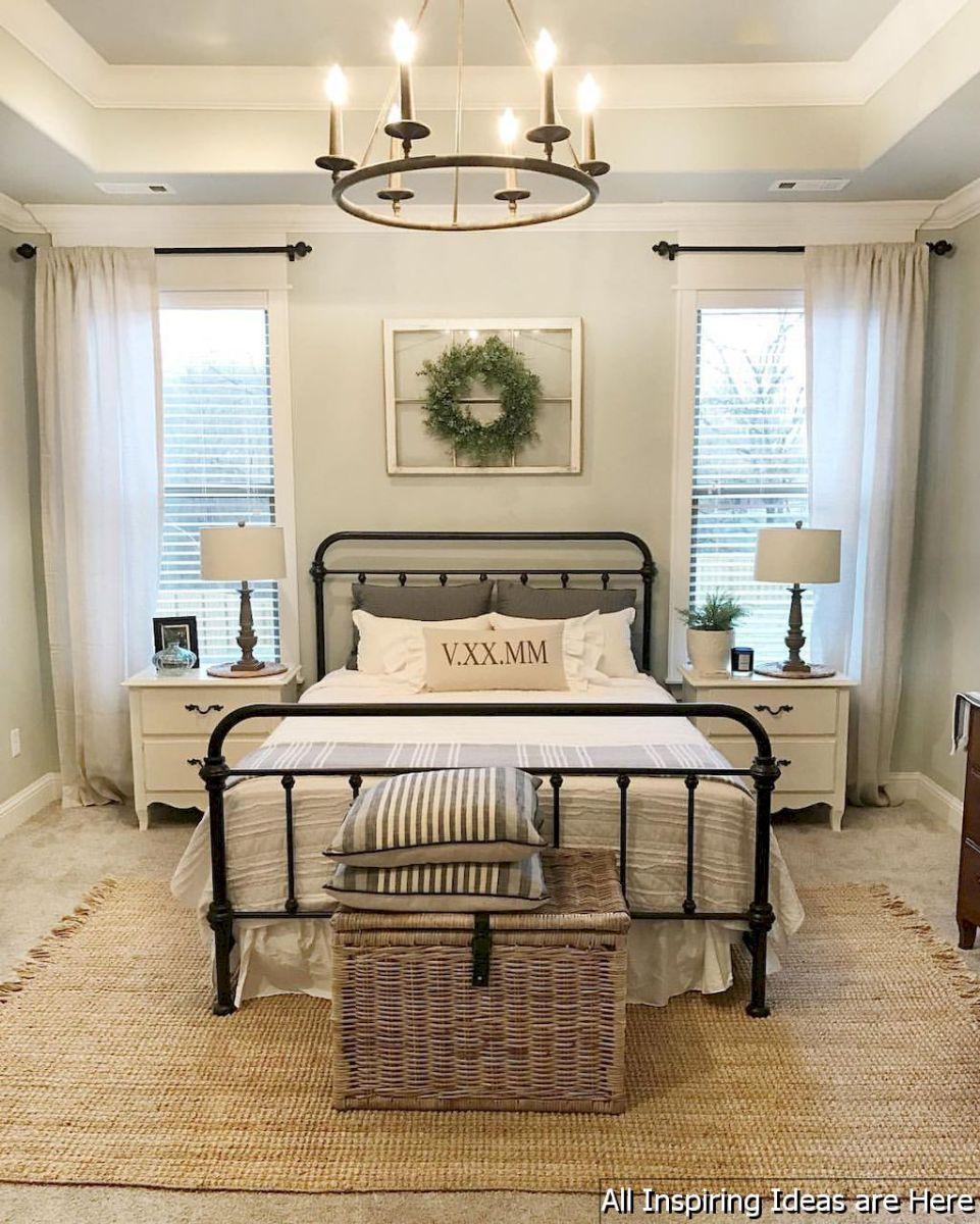 30 Small Yet Amazingly Cozy Master Bedroom Retreats: Incredible Modern Farmhouse Bedroom Decor Ideas 003