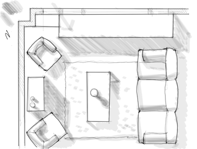 Interior Design Rendering How To Draw Shadows On A Floor Plan