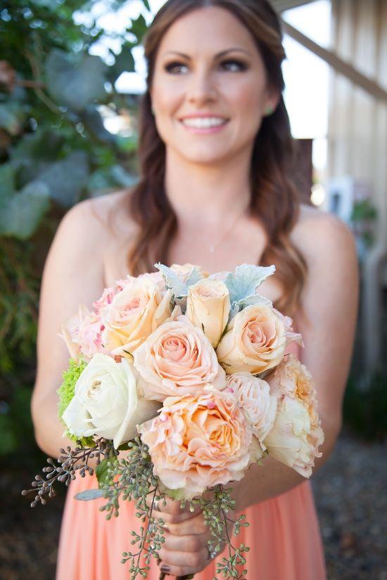 Brandon & Liz Wedding // Shutter Styles Photography // #DonnaMorgan bridesmaid dresses in Peach Fuzz // #DMCWedding #DMCbridesmaids