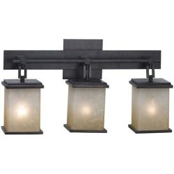 Today Review - Kenroy Home 03374 Plateau 3-Light Vanity Light Bar - 21W in. Bronze Finish