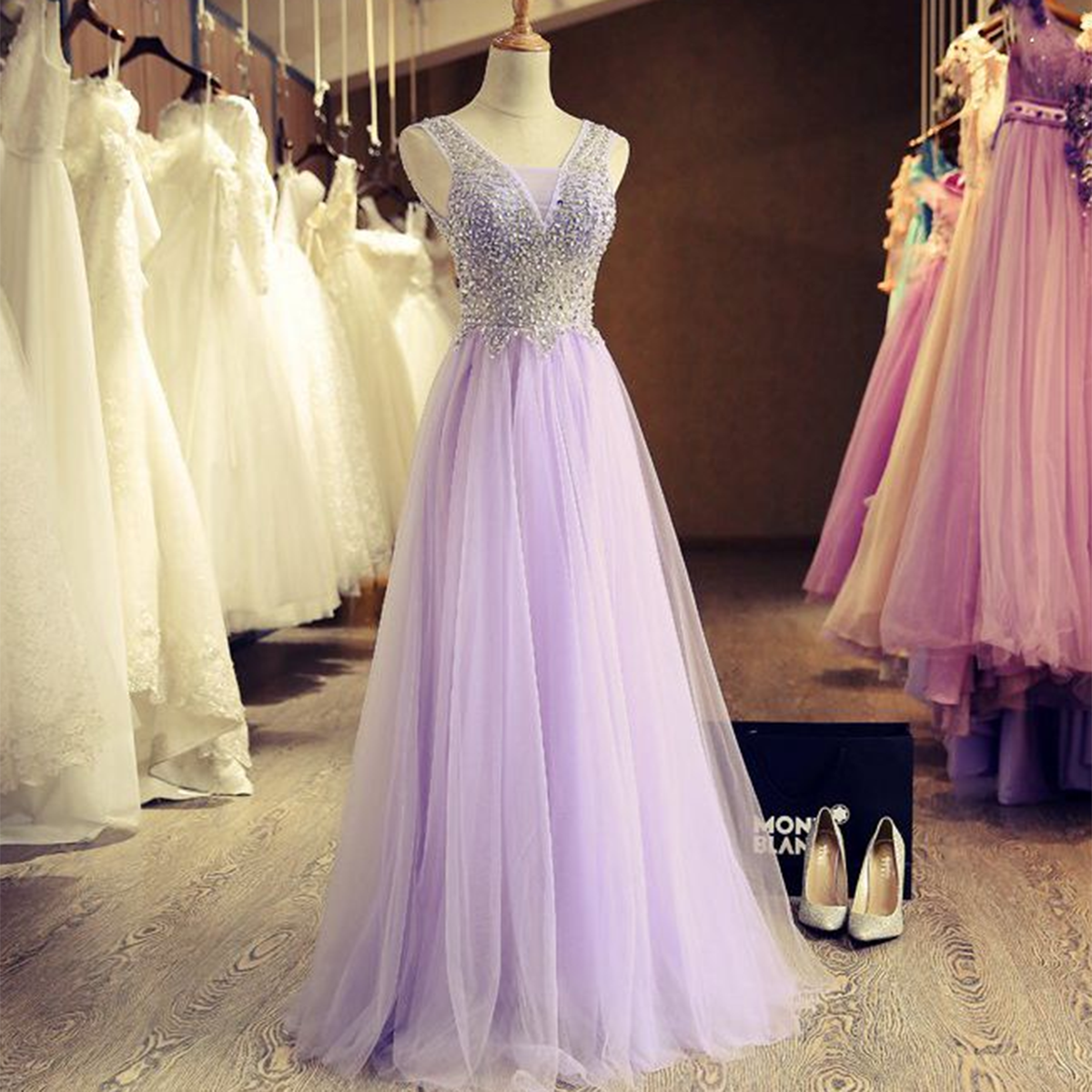 Lavender prom dress long evening dress for teens beautiful