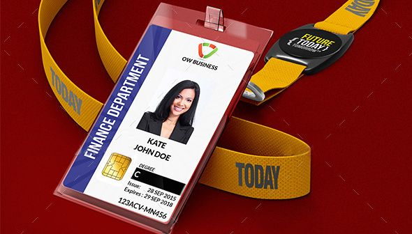 ID Card PSD Template Featured Image