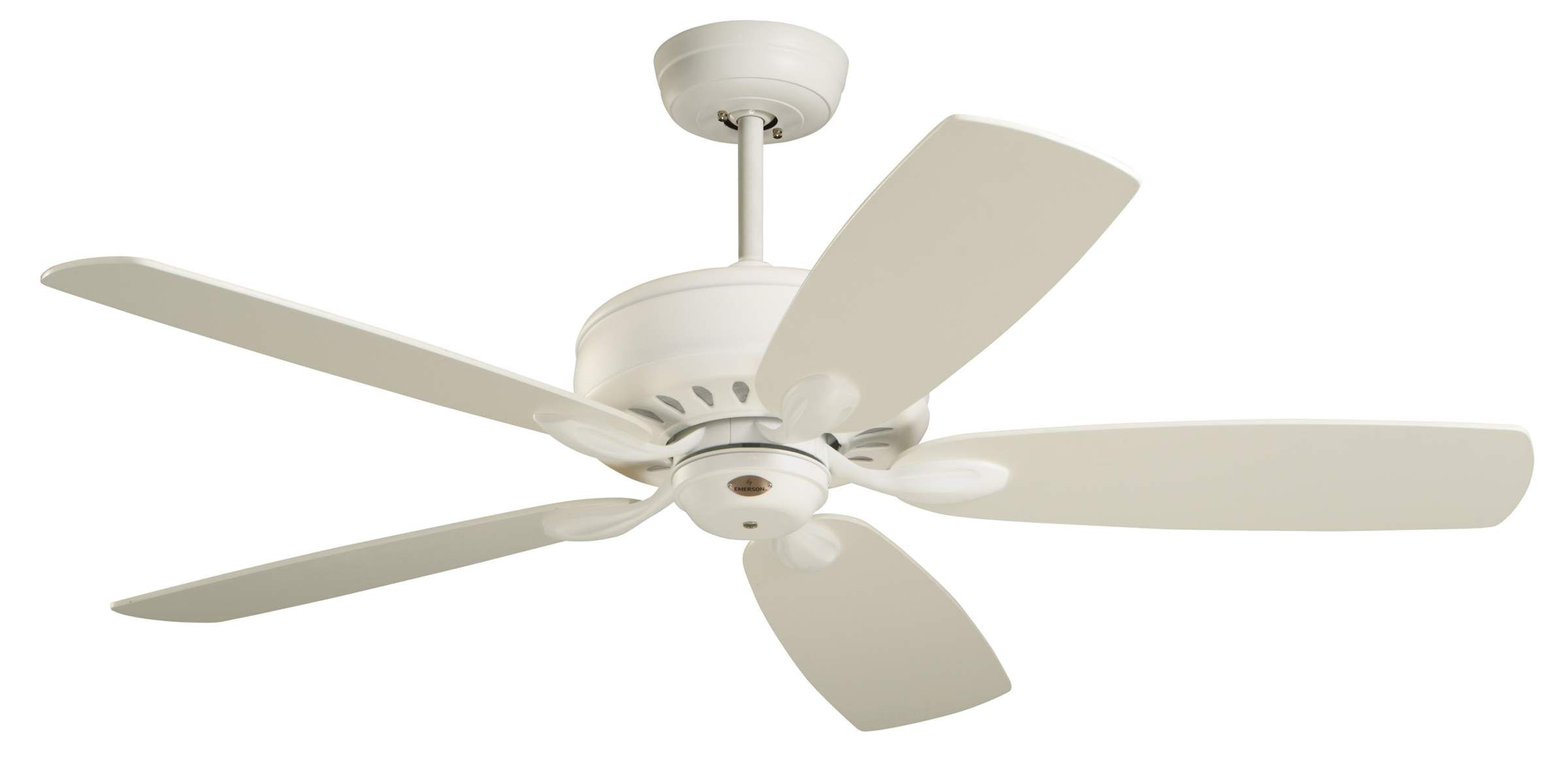 Emerson Avant Eco 5 Blade Energy Star Ceiling Fan With Custom Op Satin White Fans Indoor