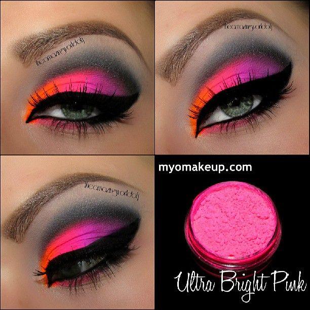 Neon Pink Shadowx Makeup Pinterest Neón, Maquillaje y Ojos