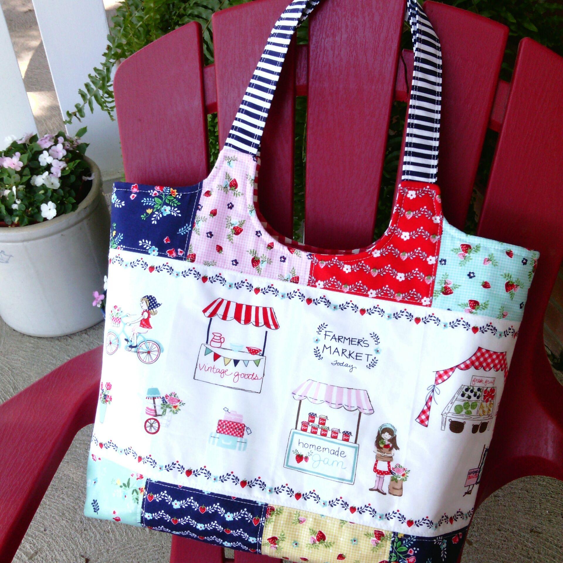 3388490f1631 Vintage Market Tote Bag - Tasha Noel fabric