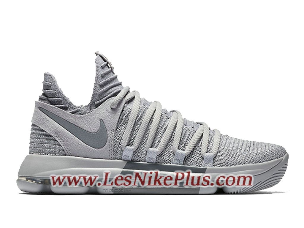 Sneaker Nike KD 10 Wolf Grery Chaussures Nike KD 2018 Pas Cher Pour Homme  Gris 897815-007 - 897815-007 - Préparez-vous au sport et au style avec les  ...