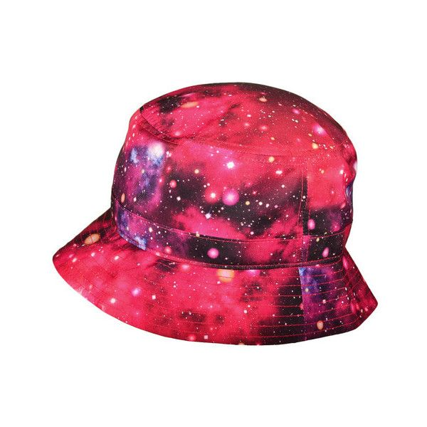 Wholesale KBETHOS Fashion Galaxy Bucket Hats Caps (Red Size  M L) -... ❤  liked on Polyvore featuring accessories 9efe49126af