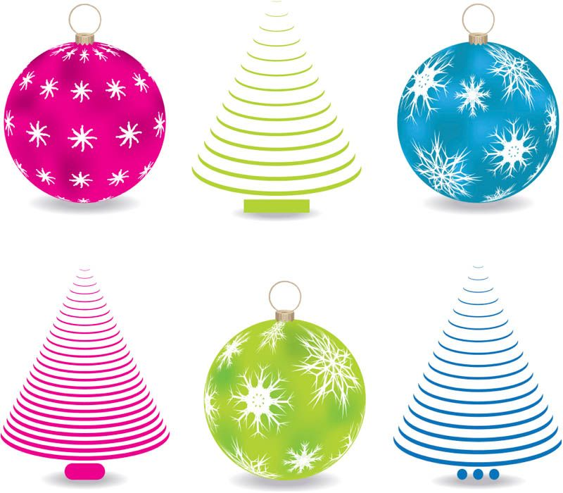 Abstract Christmas Tree Balls Vector Christmas Vectors Christmas Tree Logotype