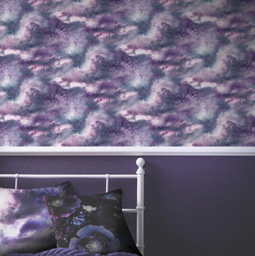 Diamond Galaxy By Arthouse Deep Purple Wallpaper Wallpaper Direct Cloud Wallpaper Purple Wallpaper Wallpaper