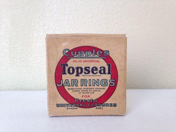 Vintage Cupples Topseal No. 10 Jar Rings -Full