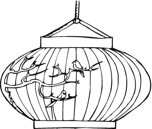 Chinese New Year Lantern Printable New Year Coloring Pages