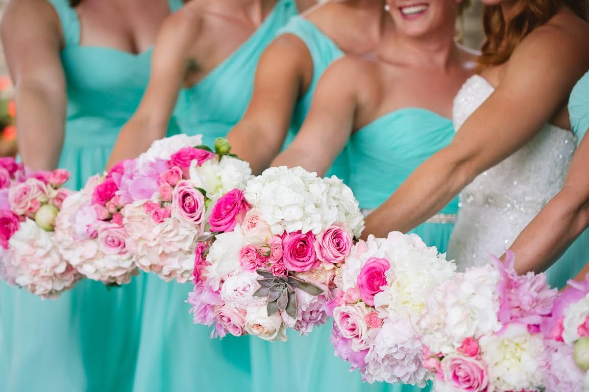 All hands in at megans spearmint wedding donnamorgan mix all hands in at megans spearmint wedding donnamorgan mix match bridesmaids dresses ombrellifo Choice Image