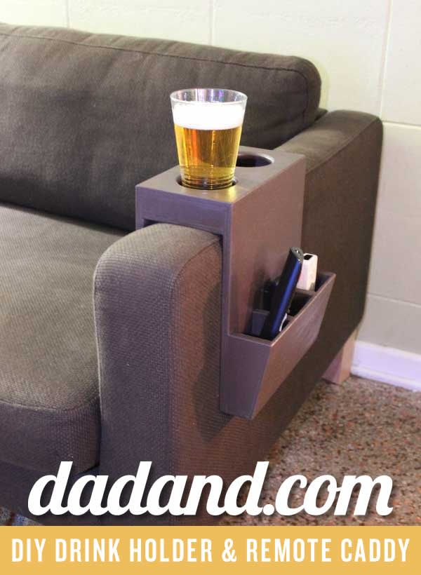 Diy Couch Cup Holder And Remote Caddy Dadand Com Diy Sofa Diy Couch Furniture